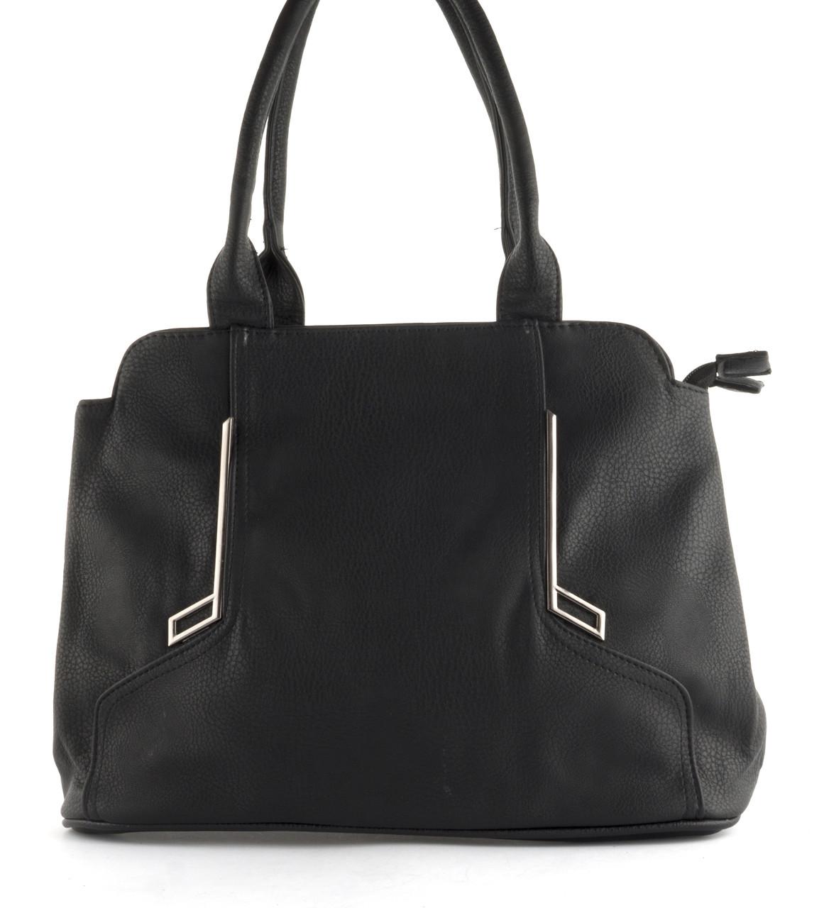 Недорогая качественная вместительная женская сумка P&W art. 17866 черная