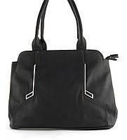 Недорогая качественная вместительная женская сумка P&W art. 17866 черная, фото 1