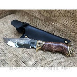 Нож Лев (бронзовое литье)