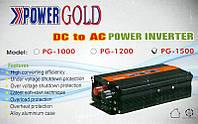Power GOLD - Инвертор напряжения автомобильный, PG-1500, 12/220, 1500W