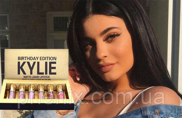 Кращий подарунок дівчині - рідкі матові помади від Kylie (голд)!