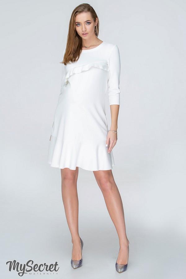 Платье для беременных и кормящих SIMONA DR-19.073 молочное