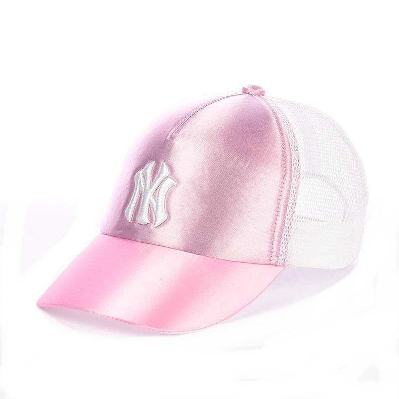 Розовая кепка с сеткой - New York