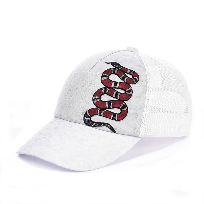 Кепка с сеткой - Gucci snake белый