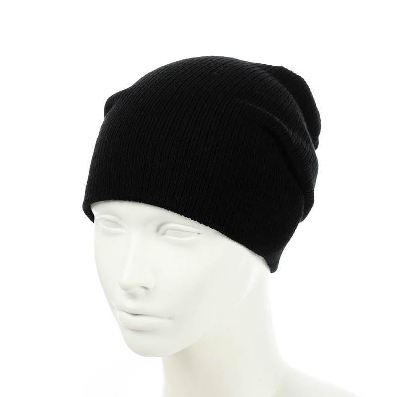 Вязаная шапка-чулок черный
