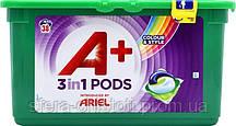 Ariel Pods A+ капсулы для стирки цветного белья 38шт