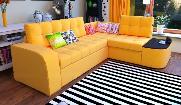 Угловой диван Барселона с высокой спинкой, дельфин