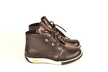 Детские ботинки для мальчика натуральная кожа черные зимние и демисезонные 253103