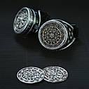Очки Гогглы в стиле стимпанк узор (Серебро) Премиум, фото 8