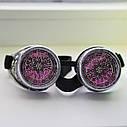 Очки Гогглы в стиле стимпанк узор (Серебро) Премиум, фото 7
