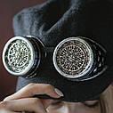 Очки Гогглы в стиле стимпанк узор (Серебро) Премиум, фото 3