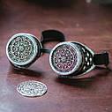 Очки Гогглы в стиле стимпанк узор (Серебро) Премиум, фото 6