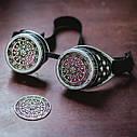 Очки Гогглы в стиле стимпанк узор (Серебро) Премиум, фото 5