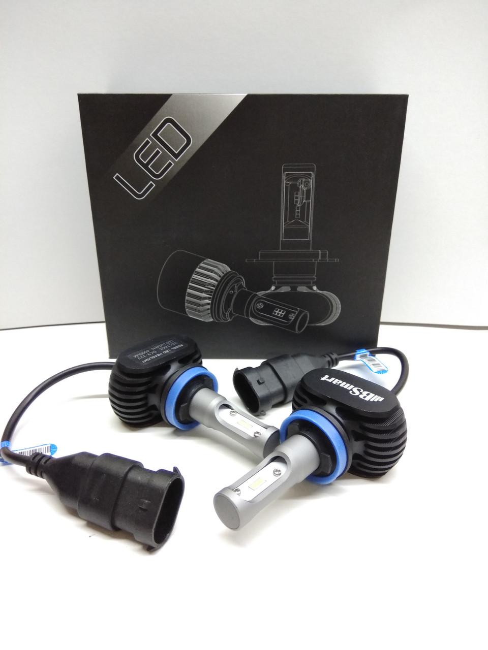 Автолампы LED S1 диод CSP Южная Корея, H8, 8000LM, 50W, 9-32V