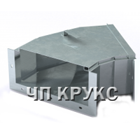 Короб кабельный блочный угловой горизонтальный с углом поворота на 45º ККБ-УГП-0,2/0,5