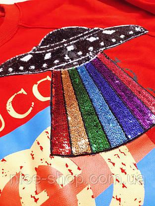 Свитшот Gucci красный, фото 3