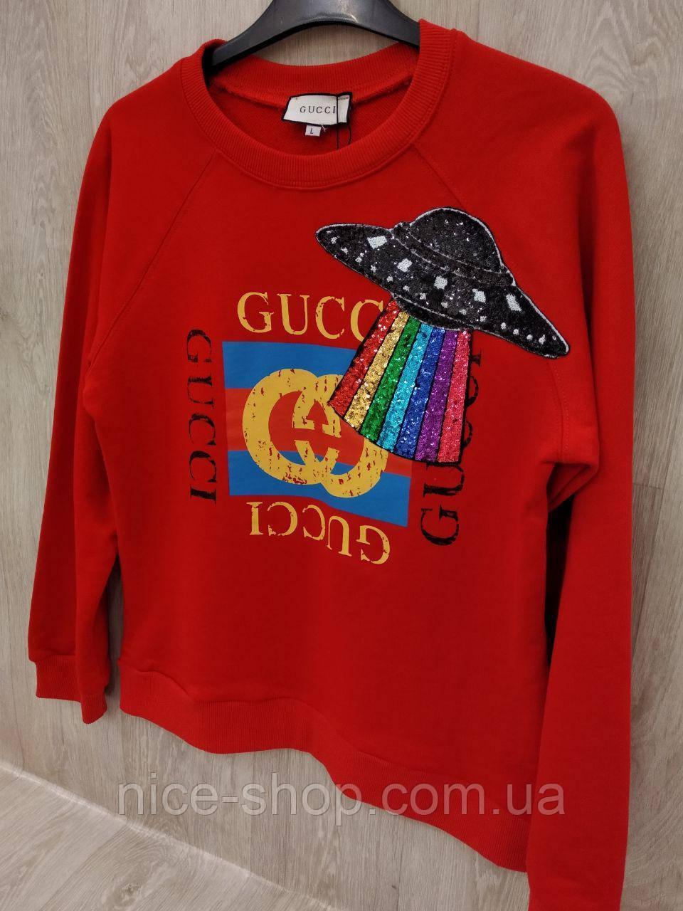Свитшот Gucci красный