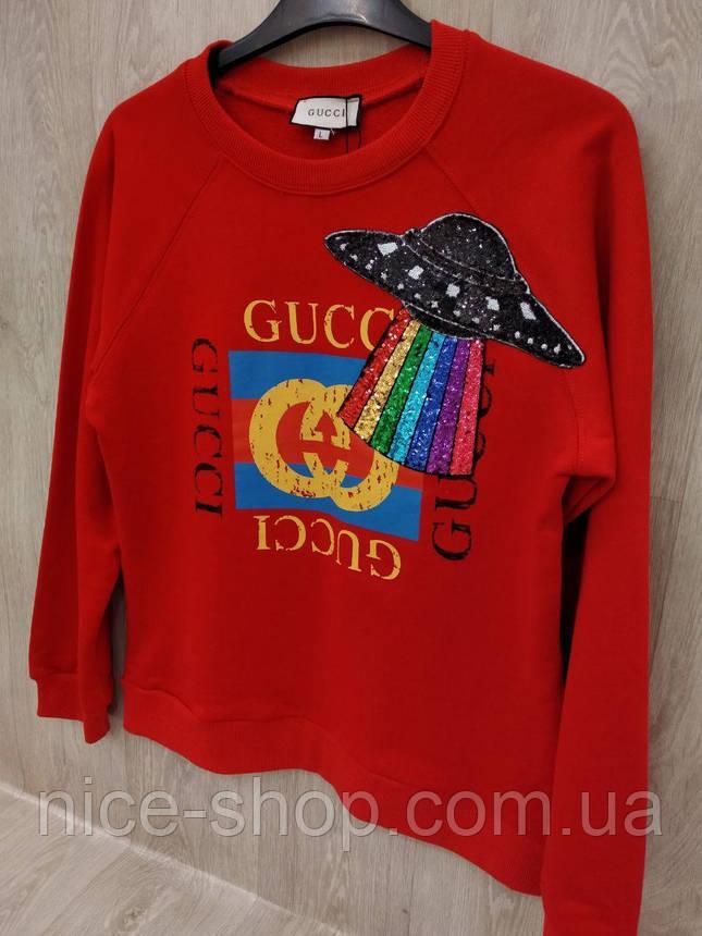 Свитшот Gucci красный, фото 2