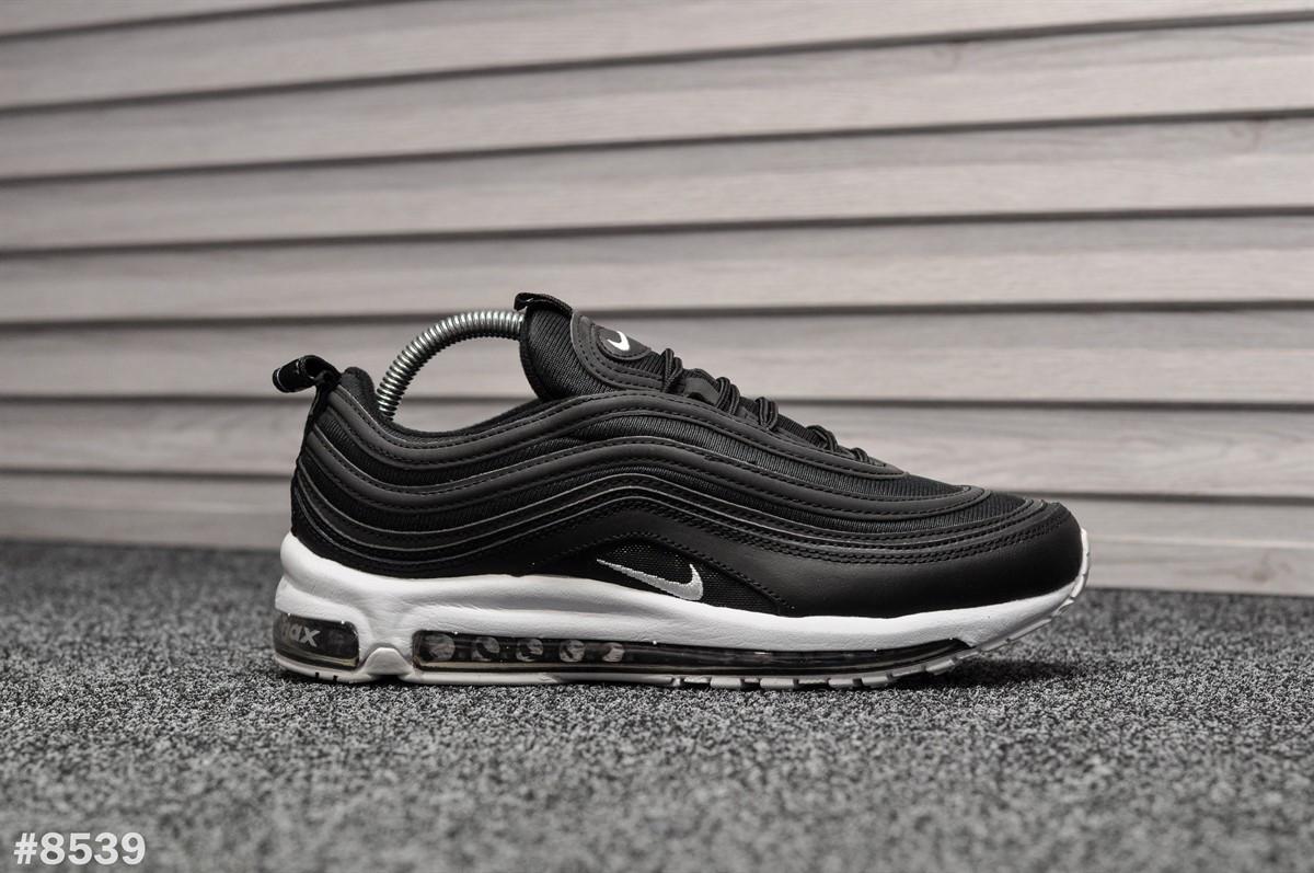 Мужские кроссовки Nike Air Max 97 Black White (Реплика)