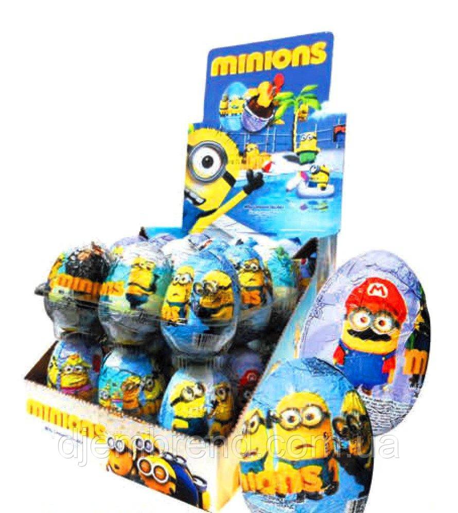 """Шоколадные яйца с сюрпризом """"Minions"""" (Миньен), 24 шт"""