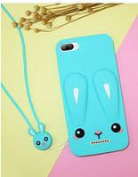 Чехол Funny-Bunny 3D для Xiaomi Redmi 6A Бампер резиновый голубой