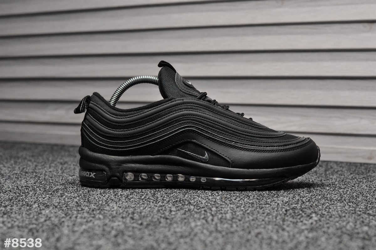 Мужские кроссовки Nike Air Max 97 Triple Black (Реплика)