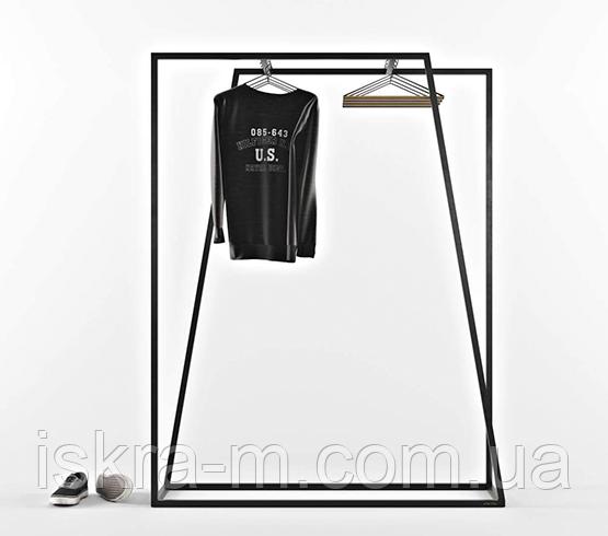 Рейл для одежды в стиле лофт