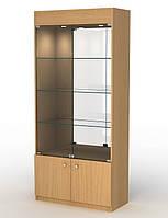 Торговая витрина из ДСП с зеркальной задней стенкой