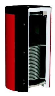 Аккумуляторы тепла с теплообменником, без теплообменника. Серия EA.