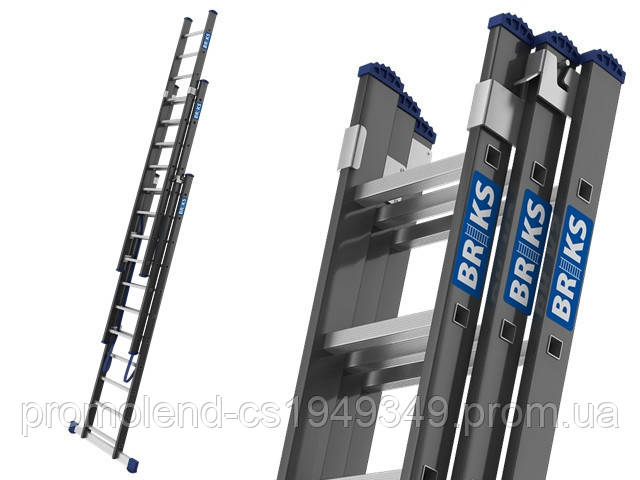 Лестница алюминий 3х15 BRIKS 1120 см