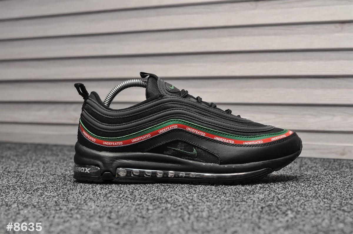 Мужские кроссовки Nike Air Max 97 Black Undefeated (Реплика)