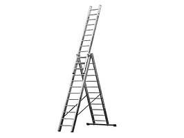 Лестница алюминий 3х15 HIGHER 1040 см