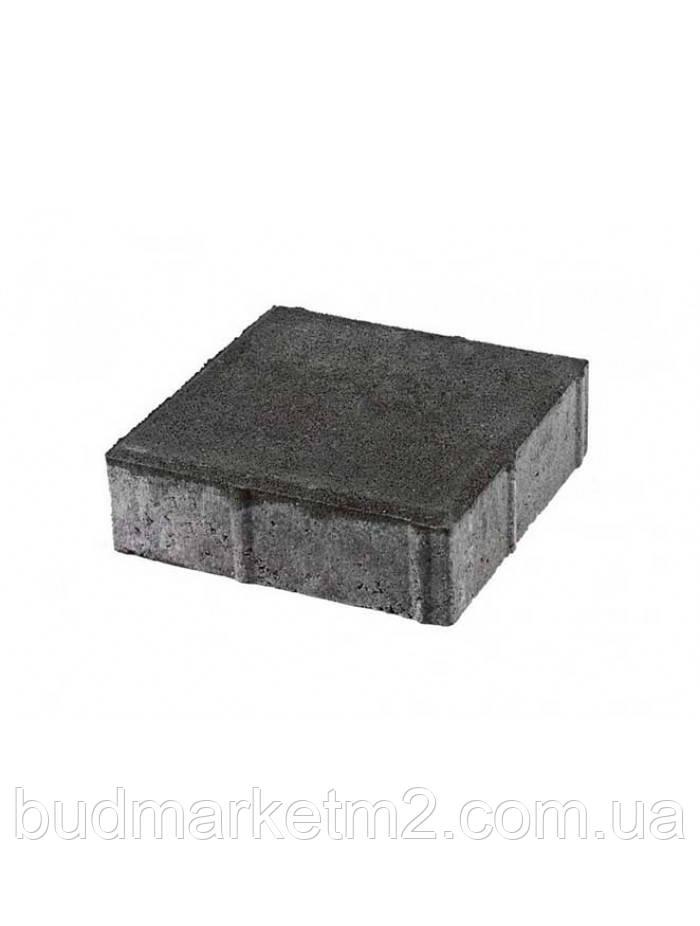 Тротуарная плитка Квадрат серый Стандарт  6 см