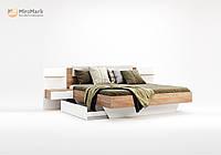 "Кровать  ""Асти"" 1,6 мягкая спинка с тумбами и ящиками( без каркаса).Миро Марк."