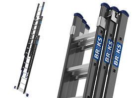 Лестница алюминий 3х14 BRIKS 1020 см