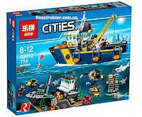"""Конструктор Lepin 02012 """"Корабль исследователей морских глубин"""" 774 деталей. Аналог LEGO City 60095, фото 1"""