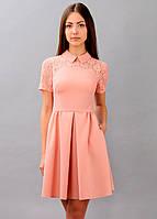 Платье женское летнее легкое персикового цвета