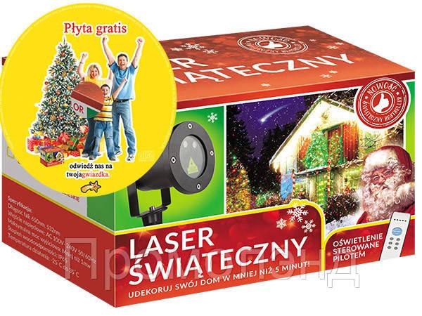 Лазерный проектор STAR SHOWER 3 цвета 8в1