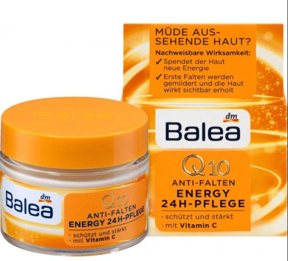 Крем для лица Balea Anti Falten Energy Q10 24H Pflege от преждевременных признаков старения 50мл