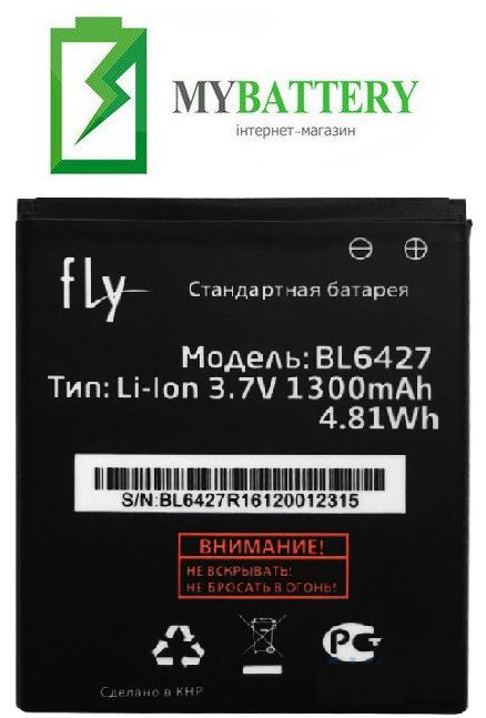 Оригинальный аккумулятор АКБ батарея для Fly FS407 Stratus 6 / BL6427 1300 mAh 3.7 V