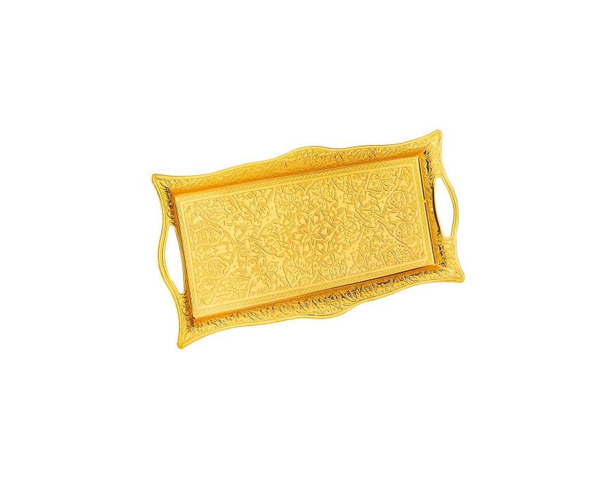 Поднос прямоугольный Sena золотой 25х15 см