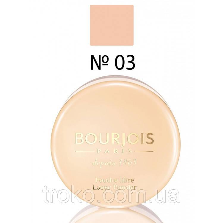 BOURJOIS Loose Powder Пудра рассыпчатая №03 - Golden 32г