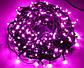 Новогодняя гирлянда 200 LED, Длина 16m, Розовый свет, фото 2