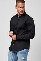 Мужская черная рубашка Forever21 L, фото 1