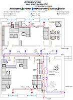 Проектирование монтажной схемы системы вентиляции и кондиционирования (Пример расчёта)