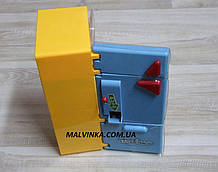 Холодильник арт 14006 22,5 см, муз, світло, продукти, на бат-ке, в кор-ке,21-27-10 см жовтий з синім