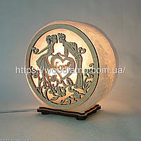 Соляная лампа круглая Пара с сердцами