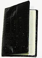 Обложка на документы женская лаковая чёрная искусственная кожа, фото 1