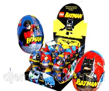 """Шоколадные яйца с сюрпризом """"Batman"""" (Бетмен), 24 шт"""
