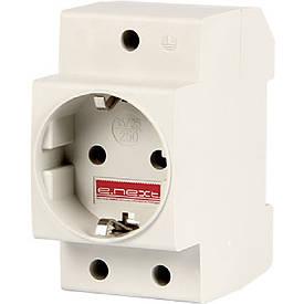 Розетка на DIN-рейку e.socket.pro.din.tms, 230 В, з з/к